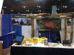 Display at ISE...Cliff Bugger Fly Boxes with custom art by Ty Hallock
